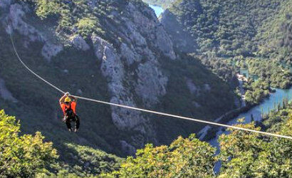 Omis Cetina canyon zipline